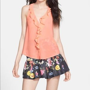 re:named Floral Tiered Flare Mini Skirt Size L